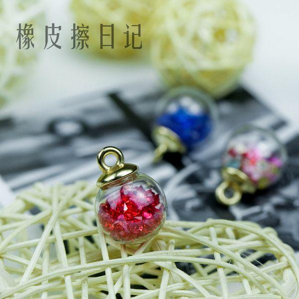 Загружает новые DIY материал ювелирных аксессуаров пятиконечные звезды кристалл стеклянный шар ожерелье аксессуары кулон кулон