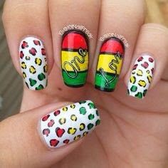 Nails art bob marley