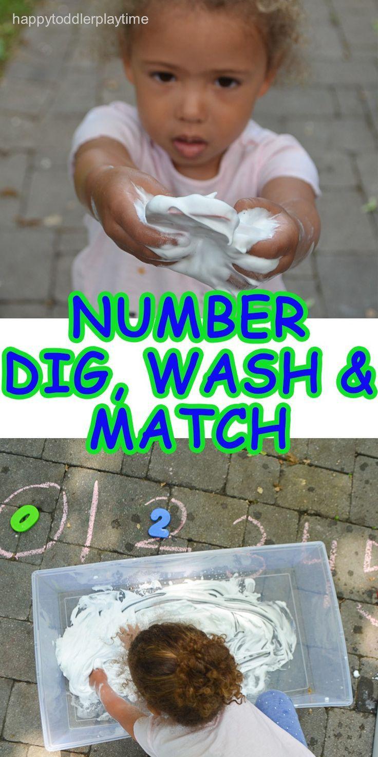 Number Dig, Wash & Match