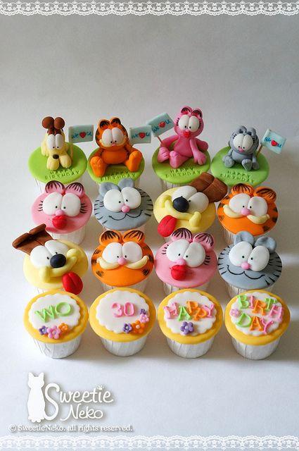 @Rachel R R M Garfield and friends cupcakes by SweetieNeko Homemade Sweets, via Flickr