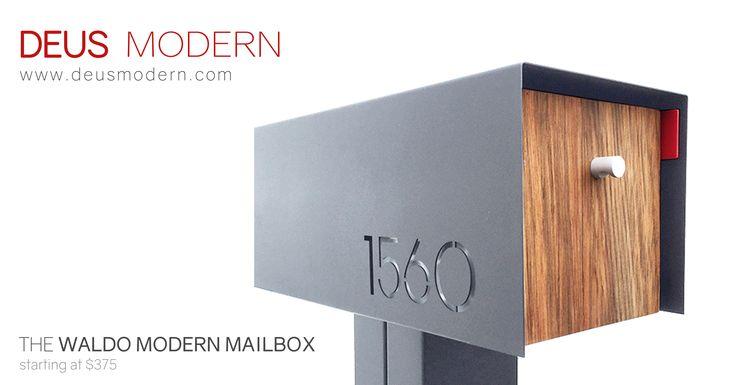 Waldo Modern Mailbox.  Several models and colors starting at $275