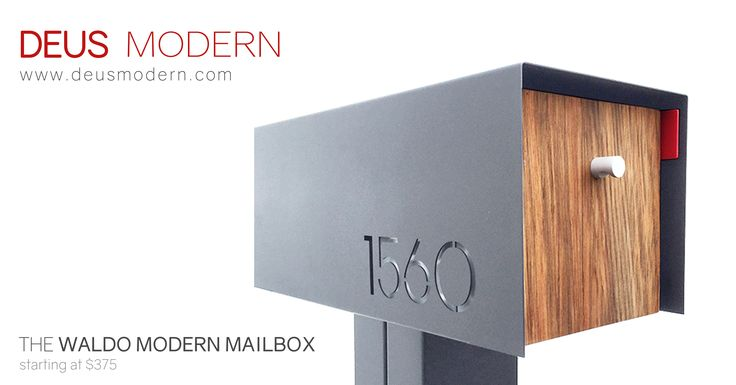 Waldo Modern Mailbox.  Several models and colors starting at $275