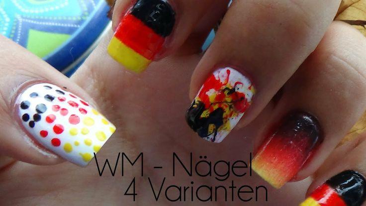 WM #4 - Deutschland Fingernägel - 4 Varianten // Ammis Blog