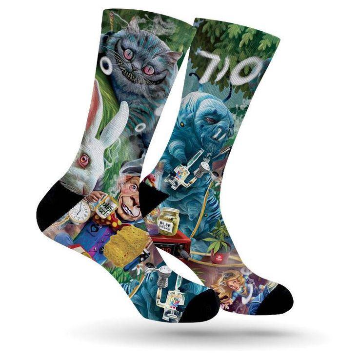 Weed Socks. Cannabis Socks. Marijuana Socks. Socks. Movie Socks. Alice In Wonderland Socks. 710. 420. Mad Hatter Socks. Cheshire Cat Socks by stnrdys on Etsy