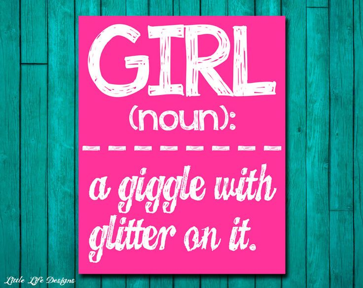 Girl Wall Art Girl Room Decor GIRL a giggle by LittleLifeDesigns, $8.00