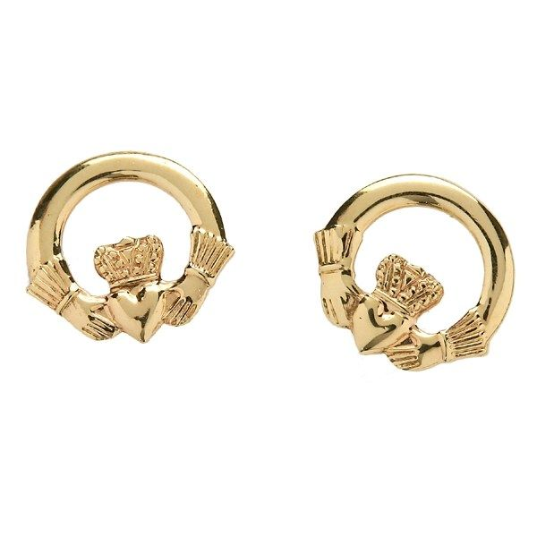 Claddagh Stud Baby Earrings - Celtic Earrings - Rings from Ireland
