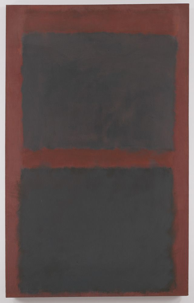 """oil on canvas, 72"""" x 45"""" (182.9 cm x 114.3 cm), 1958, Rothko © 1998 Kate Rothko Prizel and Christopher Rothko / ARS / Photo by G. R. Christmas"""