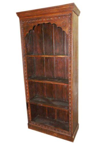 Antique India Furniture Mehrab Frame Book Case Carved Wood