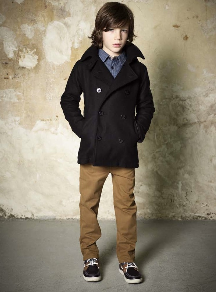 Navy pea coat from Finger in the Nose for winter 2011 children's fashion