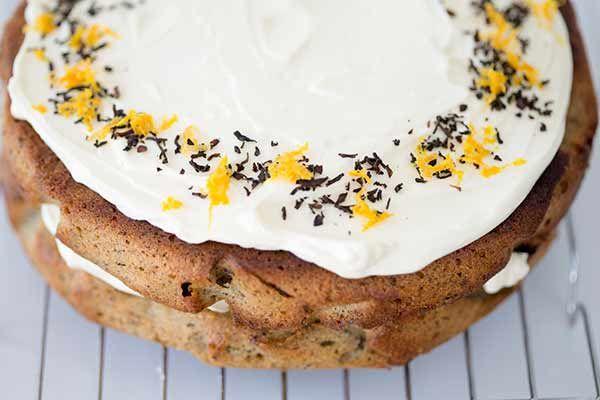 Orange, almond and earl grey cake