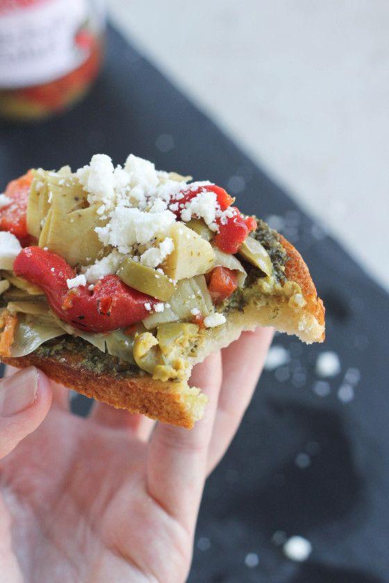 with a Mediterranean twist - featuring crusty bread, basil pesto ...
