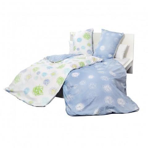 Holey Quilt® Bavlnená obliečka Mirfak blue 140x200,70x90