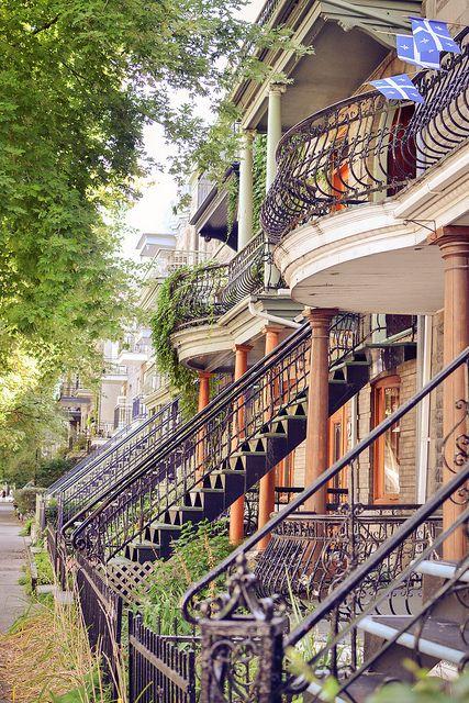 les escaliers de Montréal