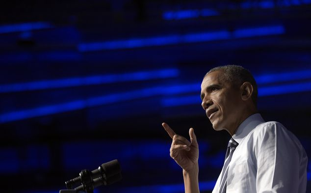 President Barack Obama speaks at a campaign event for the Ohio Democratic Party and for th...