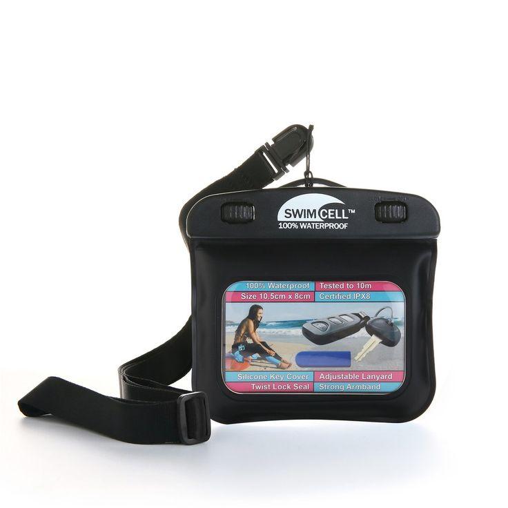 SwimCell 100% Waterproof Armband Case for Keys, Money, I.D, MP3 - (10cm x 8cm) | https://www.swimcell.com
