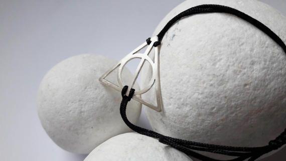 Deathly hallows bracelet Harry Potter jewelry by YolandaTzina