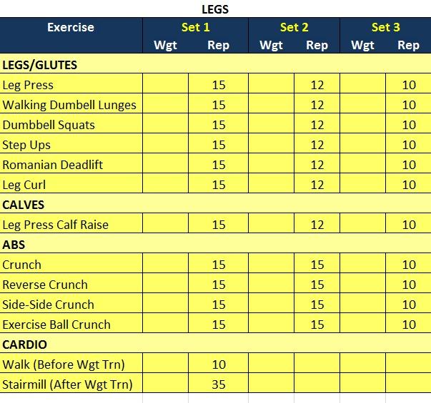 Jovita's Leg Routine Leg routine, Bicep routine, Back