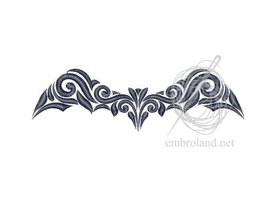 Bat - Machine Embroidery Design - Instant Download - Four sizes