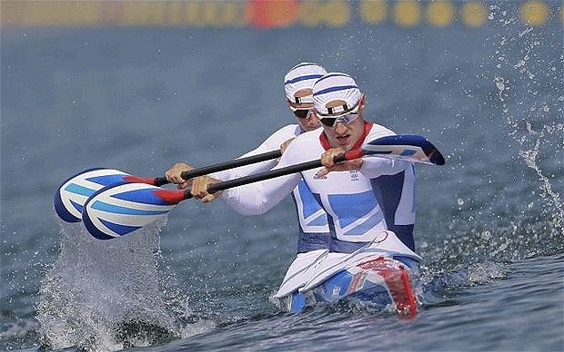 Liam Heath & Jon Schofield paddling to bronze in the 200m sprint (The Telegraph)