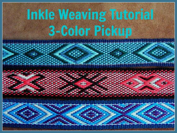 Inkle Weaving Tutorial 3-Color Pickup by ASpinnerWeaver #inkle #inkleweaving #inklepatterns #bandweaving #weaving #inkle_Weaving_patterns
