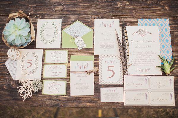 оригинальные свадебные приглашения #wedding #boho