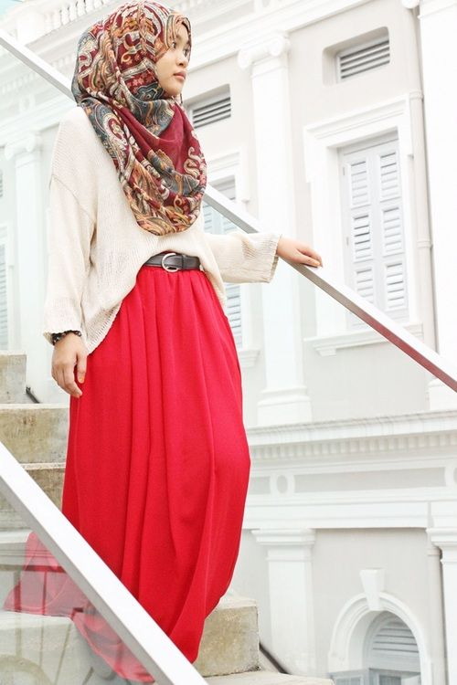 Hijabi Fashion:I wore this outfit a few weeks ago it was too ab