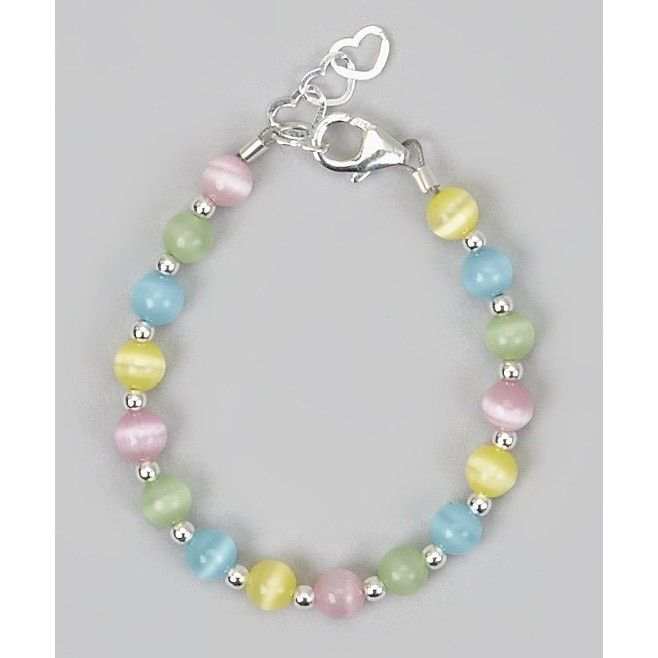 Multi-Colored Sterling Silver Baby Bracelet