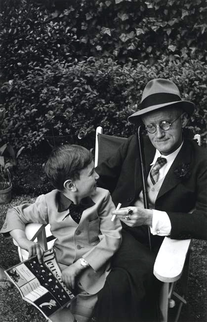 James Joyce and his grandson Stephen, Paris 1938 -by Gisèle Freund