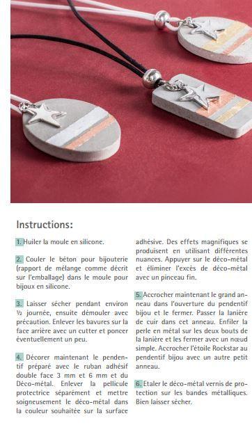 Moule à bijou pour béton Rayher - Ronde - 3,9 cm - Béton créatif - Creavea