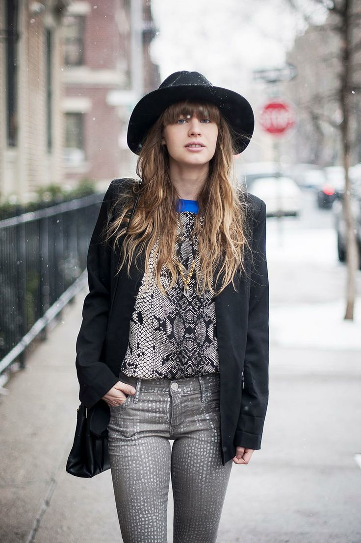 lisa from just another fashion blog in the stevie wool hat