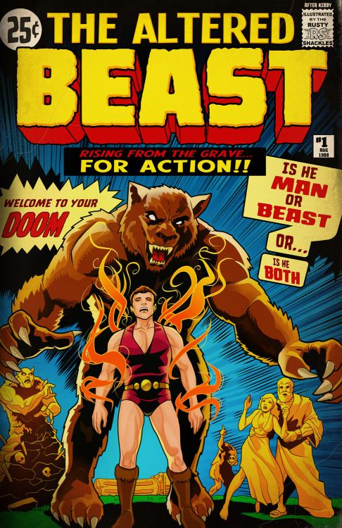 """insertquarterbin: """"REMASTERED IQB! """"THE ALTERED BEAST"""" - Based off of Jack Kirby's cover to The Incredible Hulk #1 (1962). Artwork by your pal Rusty Shackles. Original concept by Mike Cruz, 1up staff and Rusty Shackles. This is a remastered one as I..."""
