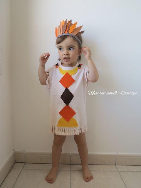 La vie ordinaire d'une bretonne: {DIY} COSTUME D'INDIEN (sans couture)