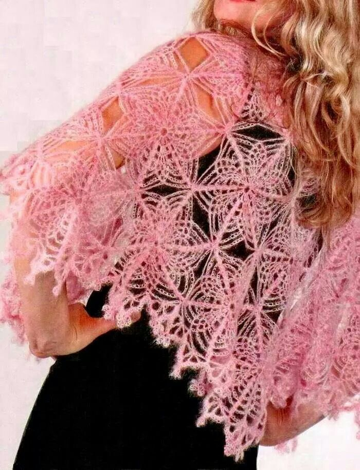 Pink flowers, Shawl and Flower on Pinterest