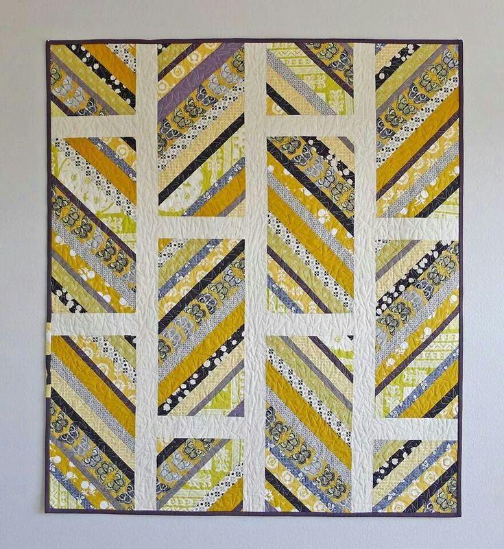 Yellow strip quilt