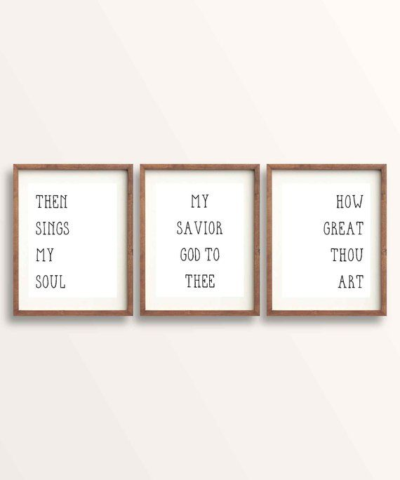 Then Signs My Soul Sign How Great Thou Art Wall Art Hymn Print