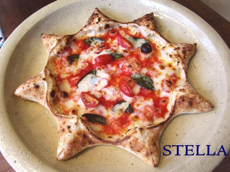 星型のかわいいpizza!