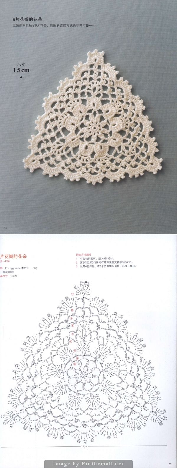 Triangular motif ~~ Japanese crochet book ~~ http://imgbox.com/g/Ui7cDR4GEV