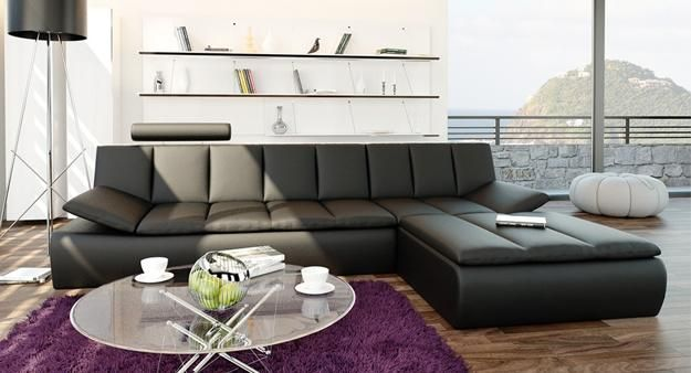 sofá moderno para o projeto sala de estar ou decoração da sala da família