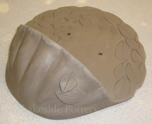 How to Make Clay Water Font Step by step clay hanging basket construction lesson