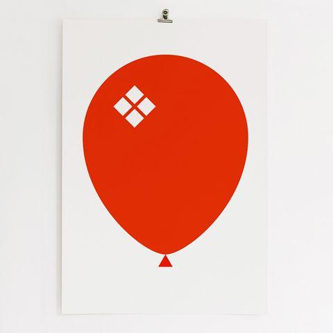 Red Ballong Poster