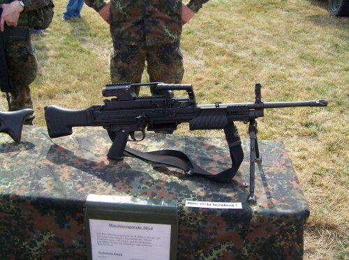 10. Heckler and Koch HK MG4 MG 43 Machine Gun