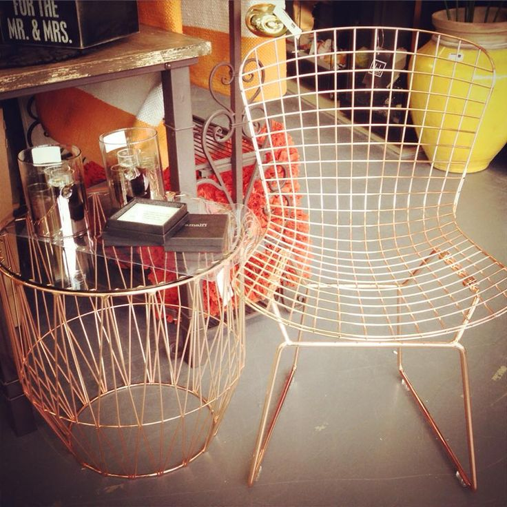 Copper @dcb_designs #newstock #rosegold #furniture #chair #sidetable #copper #copperfurnitire #dcbdesigns