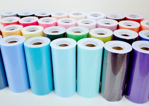 "For the chairs??? YOU PICK - Four (4) 6"" x 25 yard Tulle Rolls - 34 Colors Available on Etsy, $6.75"
