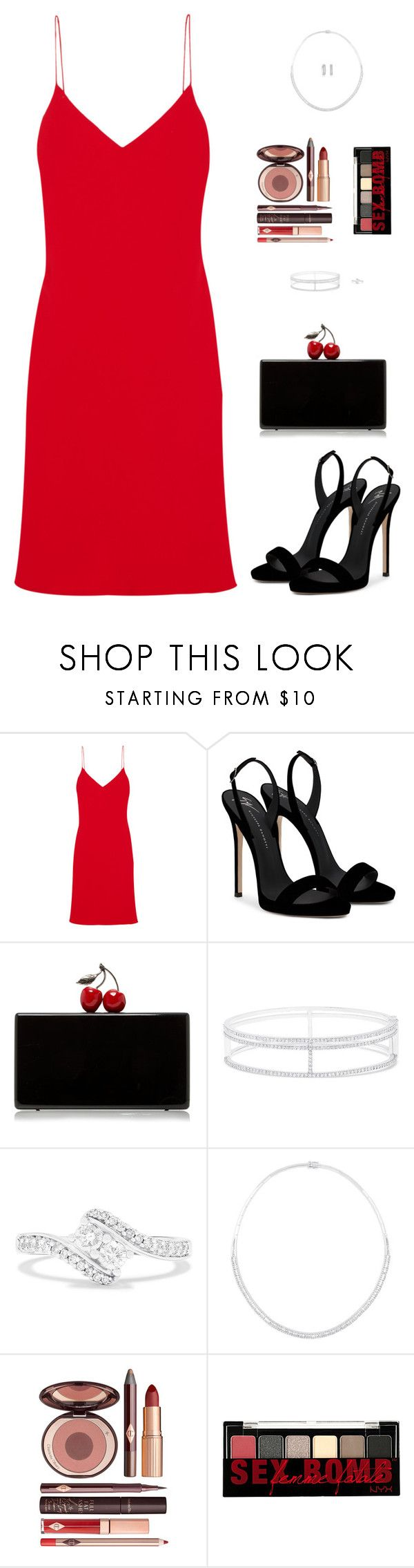 """""""Sin título #4796"""" by mdmsb on Polyvore featuring moda, Calvin Klein Collection, Giuseppe Zanotti, Edie Parker, Effy Jewelry, Charlotte Tilbury y NYX"""
