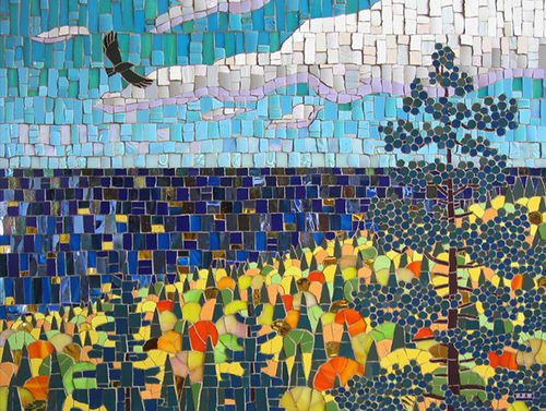 North Shore Gold By Michael Sweere Mosaic Art Tree