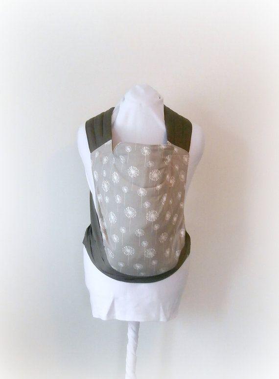 Grey Dandelions Mei Tai Baby Carrier, Slate Baby Sling, Charcoal Baby Wrap, Gender Neutral Baby Gear, Toddler Mai Tai, Mei Tie Backpack on Etsy, $85.00