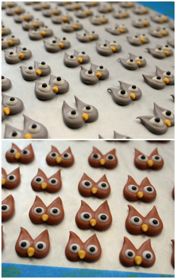 Royal Icing Owls: another good how-to post. for cupcake toppers, biscuits or brownies