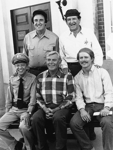 """Jim Nabors, George Lindsey, five-time Emmy winner Don Knotts, Andy Griffith  and Ron Howard from  """"The Andy Griffith Show"""""""