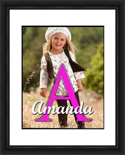 Monogram initial personalized photo created by Gumball Prints