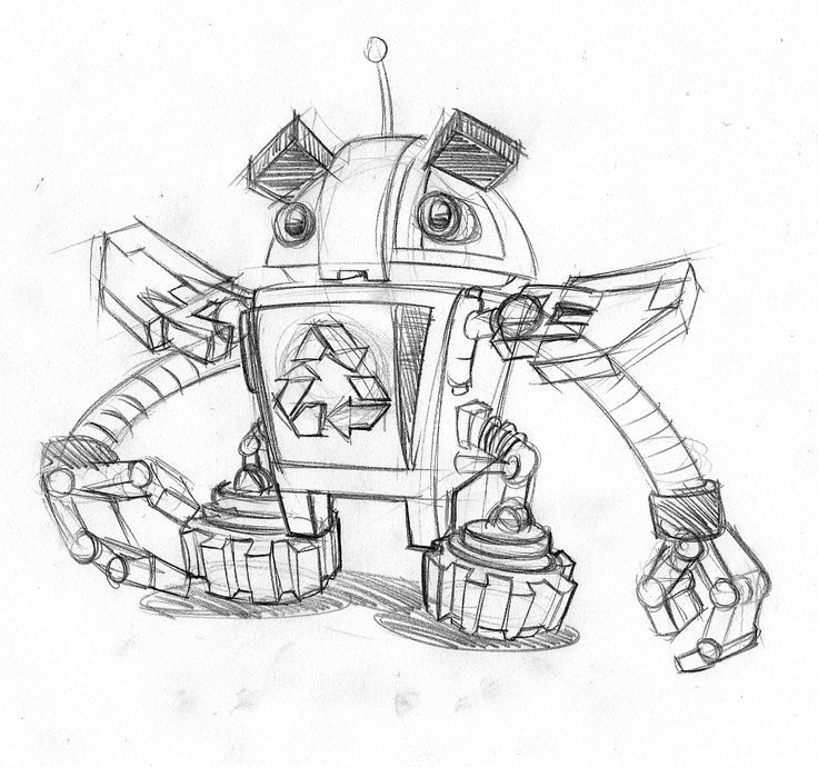 RecycleBot (sketch by Joachim Mahn)